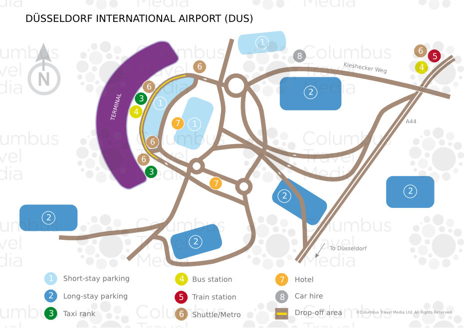 Düsseldorf Airport DUS Airports Worldwide Airports Worldwide - Dusseldorf metro map