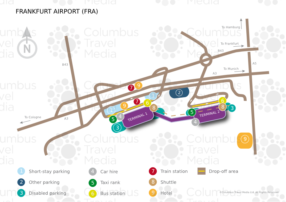 RheinMain International Airport FRA Airports Worldwide - Germany map airports