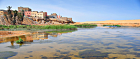 Houses reflect on the Oued Saqui el-Hamra, Laayoune