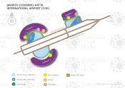 Jakarta Soekarno-Hatta International Airport map