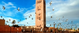 Koutoubia, the largest mosque in Marrakesh.
