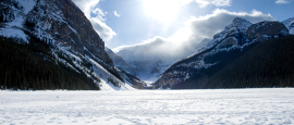 Lake Louise in Banff National Park, at the heart of the Canadian Rockies