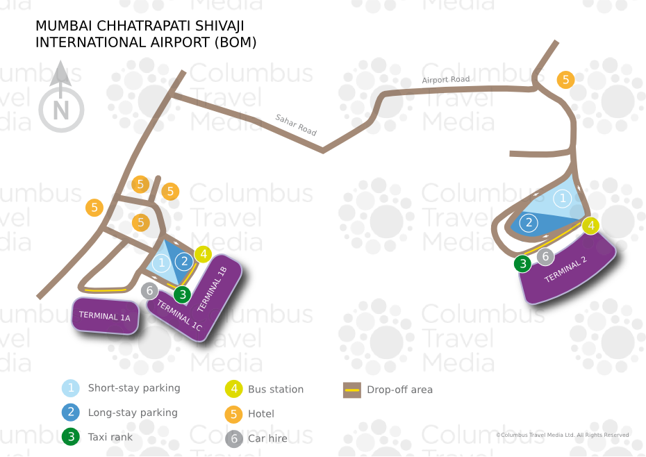Bahrain International Airport Map Map Mumbai Chhatrapati Shivaji International Airport