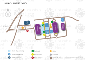 Munich Airport map