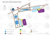 Nice Côte d'Azur Airport map