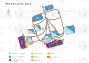Paris-Orly Airport map
