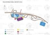Pisa International Airport Galileo Galilei map