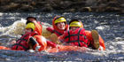 Have a go at surfing the rapids, without a raft