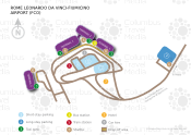 Rome Leonardo da Vinci Fiumicino Airport map