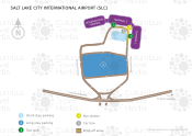 Salt Lake City International Airport map