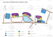 San Diego International Airport map