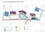 San Diego International Airport map