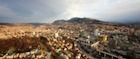 Sarajevo nestles in a verdant Balkan valley