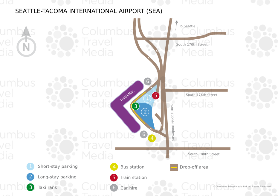 Seattle Map Airport.Seattle Tacoma International Airport Sea Airports Worldwide