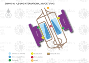 Shanghai Pudong International Airport map