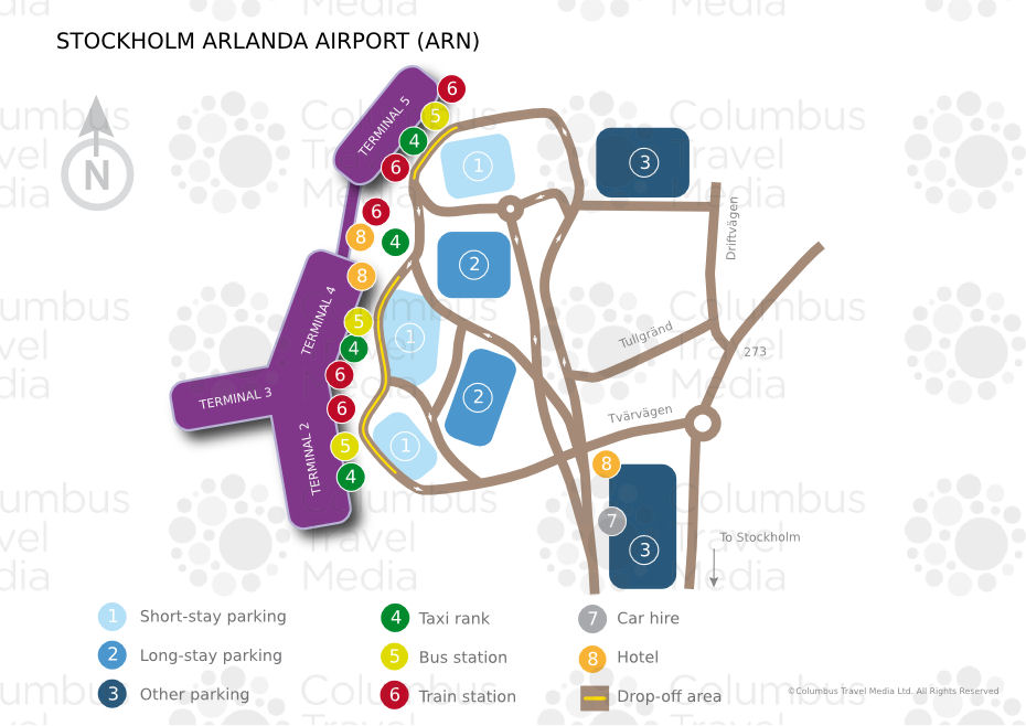StockholmArlanda Airport ARN Airports Worldwide Airports - Sweden map airports