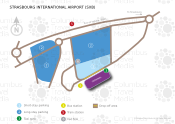Strasbourg International Airport map