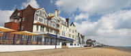 Take in lovely views of Aldeburgh's seafront