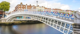The famous Ha'penny Bridge in Dublin was built in 1816.