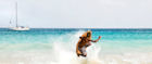 A skimboarder in Cape Verde
