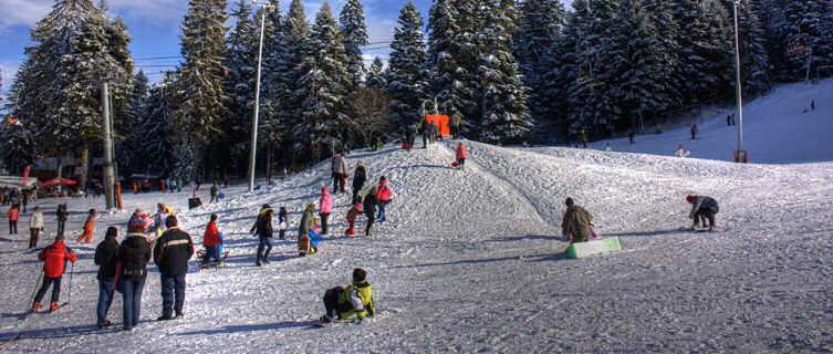 Borovets sled hill