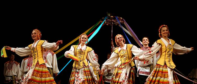 Folk dancing in Belarus