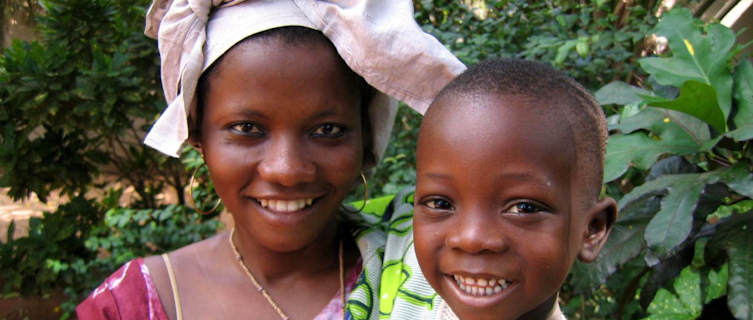 Frederick and his mum Amida, Togo