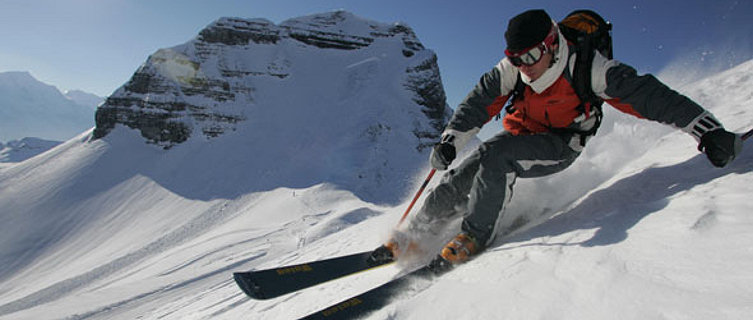Freestyle skiing in Flaine