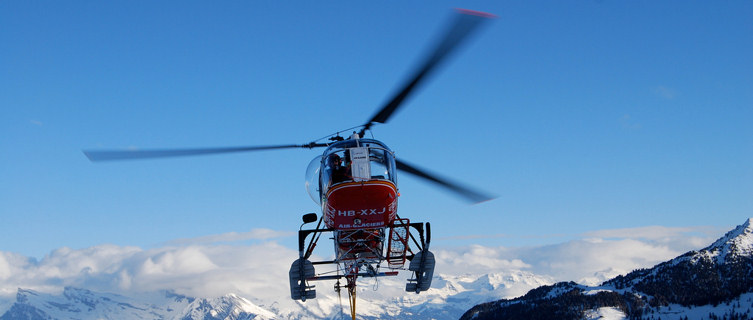 Heli-skiing in Verbier