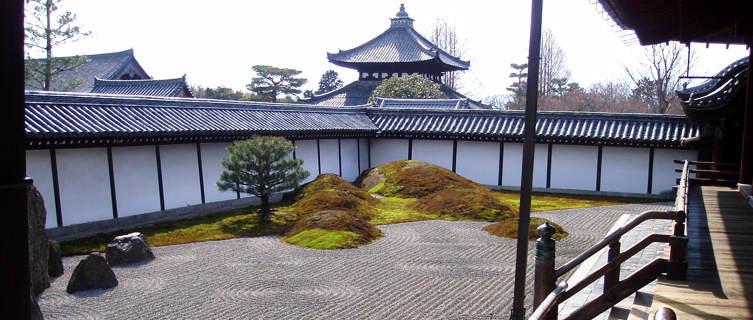 Nanzen-ji dry garden, Kyoto, Japan
