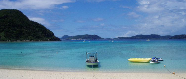 Okinawa's white-sand beach, Japan