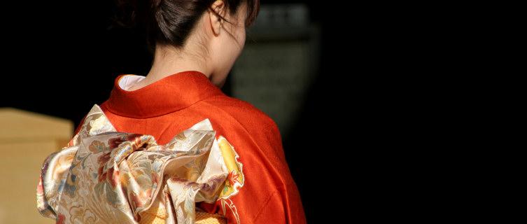 Red Kimono, Tokyo, Japan