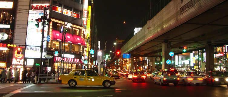 Roppongi district at night, Tokyo, Japan