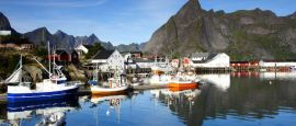 A port on the Lofoten islands, Norway