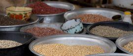 Bean in Ho marketplace, Ghana
