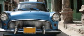 A vintage American car in Havana, Cuba