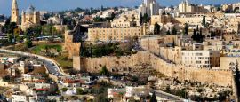 The holy city of Jerusalem, Palestine