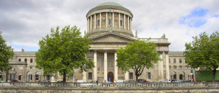 The Four Courts along the River Liffey, Dublin