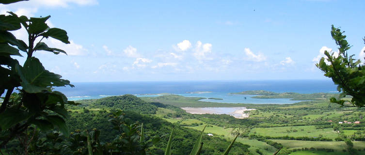 View on the south cape of the Martinique island
