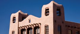 Adobe style buildings of Santa Fe