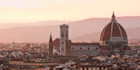 Pinkish hues over Florence